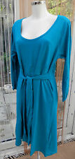 Ladies DRESS IN TURQUOISE SIZE 22  BY TOMMY & KATE 100% COTTON