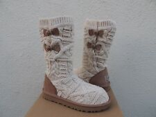 UGG KALLA FAWN CABLE KNIT/ SHEEPSKIN BOOTS, WOMEN US 7/ EUR 38 ~NIB