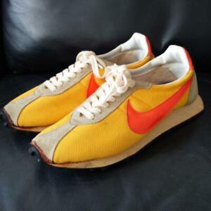 NIKE Made in Japan Size11 Yellow, Orange, Beige Nylon/Suede Men's Sneakers USED