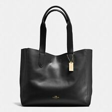 COACH F58660 NWT SOFT PEBBLE LEATHER TOTE IN BLACK GIFT RECEPT INCLUD