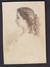 Austria EMPRESS Elisabeth very early photograph c1870? 55x80mm on thin paper
