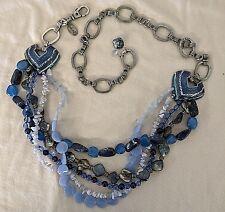Chico's metal & blue resin adjustable belt