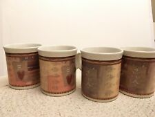 "Pfaltzgraff Holiday Spice Lot of 4 Mugs 4"" Tall 3 1/2"" Excellent Condition"