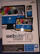 Website Creator 10 - NEW SEALED Easily Create Stunning Websites V.10.0 See origi