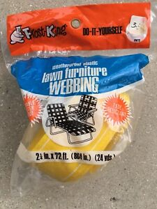 NOS Vintage Do It Yourself FROST KING Lawn Chair WEBBING 72 ft. YELLOW