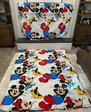 Vintage The Walt Disney Co. Comforter And Fitted Sheet Mickey & Minney On Clouds