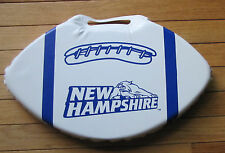 University of New Hampshire UNH Wildcats White Navy Blue Football Shaped Cushion
