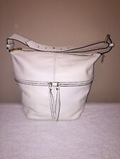 Elizabeth And James 'James Duffel' Leather Hobo Bag in White