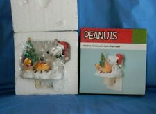 Peanuts Outdoor Christmas Campfire Night Light New In Box