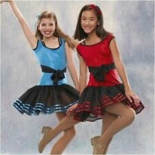Jazz Tap Dance Costume Child XS Pageant Blue  - CLEARANCE