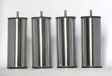 PIEDS  DE LIT ACIER CHROME HAUTEUR 150 mm (4 PIÈCES)