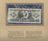 Most Treasured Banknotes Hungary 20 Forint 1975 UNC P 169f Birthday 031941