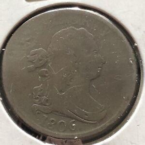 1806 Draped Bust Half Cent 1/2 Cent Better Grade #2393