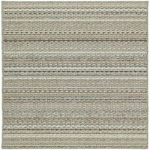 Garland rug carnival area rug 3 feet by 3 feet random earth tone stripes color &