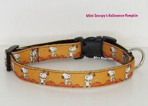 Snoopy's Halloween Pumpkin Dog Collar Disney Small or XS Mini
