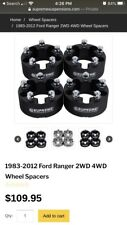 "supreme suspensions 2"" wheel spacers ford ranger"