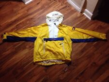 Tommy Hilfiger Windbreaker Pullover Jacket Men's Large Yellow Sailing 1/2 Zip