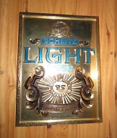 Vintage 1977 Schlitz Beer Sign Schlitz light Beer Special Lager Gold Sun Sign