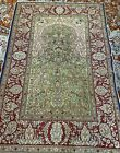 Silk Rug from Hereke, Turkey (929 KPSI) woven by the Ozipek family 37X25 inches