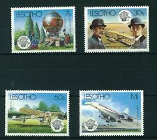 Lesotho 1983 Anniversary of Manned Flight full set of stamps. Mint. Sg 545-548.