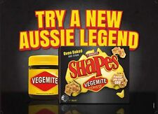 1x Arnotts Shapes Vegemite & Cheese 165g - Limited Edition