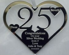 25TH SILVER , WEDDING ANNIVERSARY GIFT, PERSONALISED  KEEPSAKE FROM YOU
