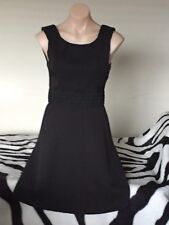 Ladies Size 8 Perfect Little Black Dress with Pretty Trim on Bodice Fabulous