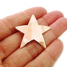 Solid Copper CIONDOLO MARTELLATO Star Design