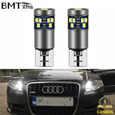 2X No Error White W5W LED Parking Lights for AUDI A3 8L 8P A4 B6 B7 B8 A6 4B 4F