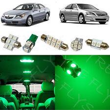 16x Green LED lights interior package kit for 2005-2012 Acura RL + Tool AR4G