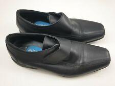 Airsoft Talla 3 (35.5) Negro Cuero fácil cerrar la Escuela Zapatos antideslizante en mocasines de niños