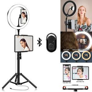 USB LED Ringlicht Ringleuchte Fotolicht Studiolampe Selfie Stativ Mit Bluetooth