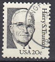 USA Briefmarke gestempelt 20c Harry S. Truman President Rundstempel / 3181