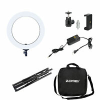 """18"""" Dimmable Diva LED Ring Light Kit Makeup Diffuser w/ Stand Photo Video Studio"""