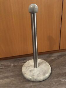 """free standing countertop paper towel holder sturdy marble 6"""" base"""