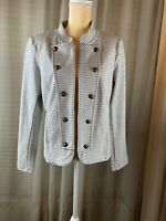 Tommy Hilfiger, Gray & White Women's Open Jacket, Large, Pkts, NWT Comp $109.50.