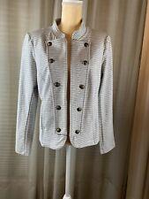 Tommy Hilfiger, Gray & White Women's Open Jacket, Large,...