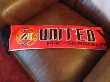 Man Utd V Valencia 05-08-09 friendly match scarf