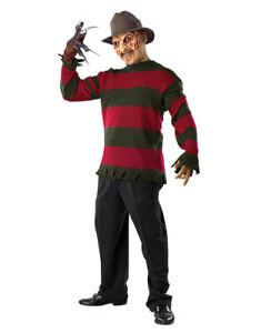 "Nightmare On Elm Street Costume,Mens Freddy Krueger Deluxe Sweater,Std,Chest 44"""