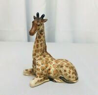 Vintage UCCI Porcelain Sitting Giraffe Figurine