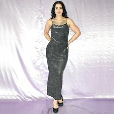 metallic Lurex Stretch MAXIKLEID* S-M * Etuikleid* Cocktailkleid* Abendkleid