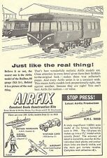 Airfix 1/600 Scale H.M.S. Hood & OO Gauge Railbus Trains Advert - Original 1961
