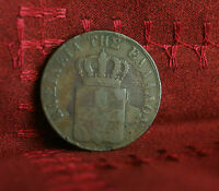 10 Lepta 1837 Greece Copper World Coin Greek KM17 Rare type 1  et