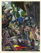 Edy Legrand 1958-Virgilio: l'ENEIDE-RARE suite di 47 farbillustrationen