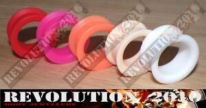 Soft/Flexi Silicone Flesh Tunnel (Choose Size & Colour)