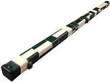 Handmade 1 Piece Slimline Green/White Patchwork Snooker Cue Case - Single Slot