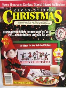 Better Homes and Gardens Cross Stitch Christmas Magazine 1993 Heirloom Stockings