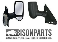 *FORD TRANSIT MK6 MK7 COMPLETE WING DOOR MIRROR MANUAL O/S DRIVER SIDE TRA347