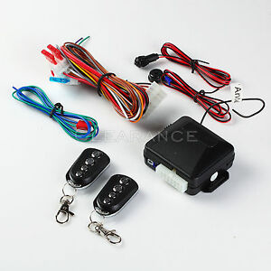 Keyless Entry System with Horn/Siren System with Two Key Fobs