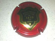Capsule de champagne BOLLINGER écusson contour or (51a. rouge)
